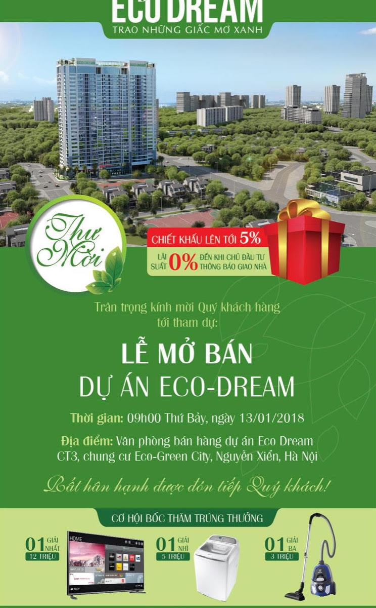 Quà tặng hấp dẫn cho khách hàng tham dự mở bán Eco dream