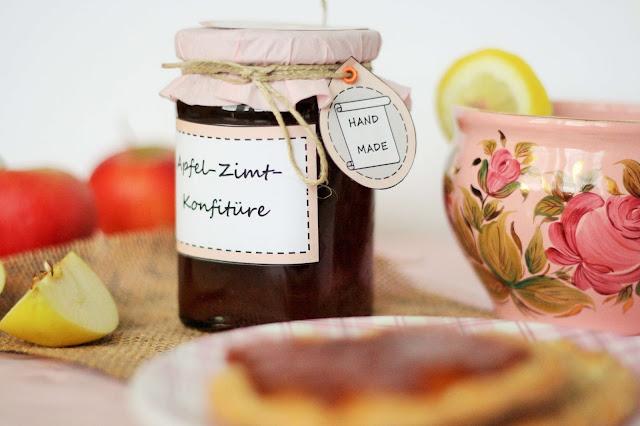 Selbstgemachte Apfel-Zimt-Marmelade