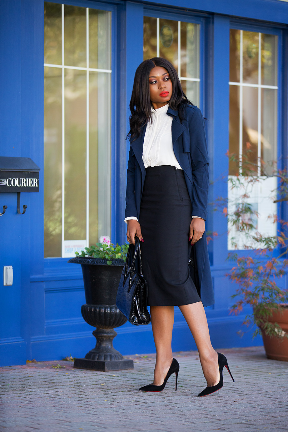 working style in pencil skirt, www.jadore-fashion.com