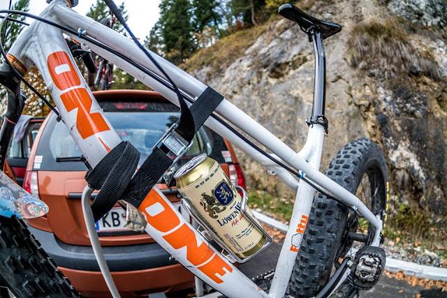 karwendel biketour flaschenhalter mountainbike bierdose
