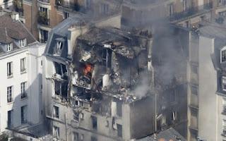 gas leak explosion in Paris