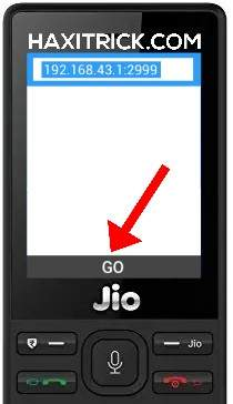Jio Phone Open Browser and Enter IP Screenshot