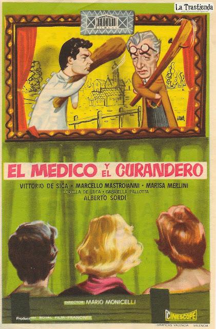 El Médico y El Curandero - Programa de Mano - Vittorio de Sica - Marcello Mastroianni - Alberto Sordi