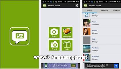 Envia fotos con Kik Photo Share en tu Kik Messenger