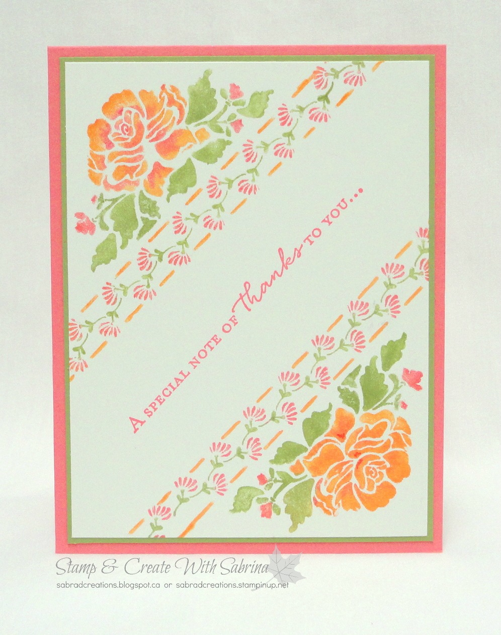 Stamp Create With Sabrina Floral Phrases Flirty Flamingo
