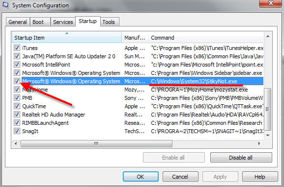 how to open msconfig in windows 7
