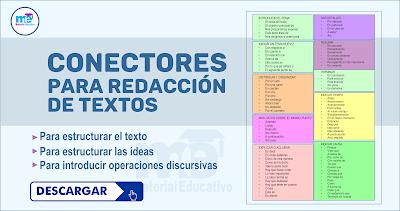 CONECTORES PARA REDACCIÓN DE TEXTOS