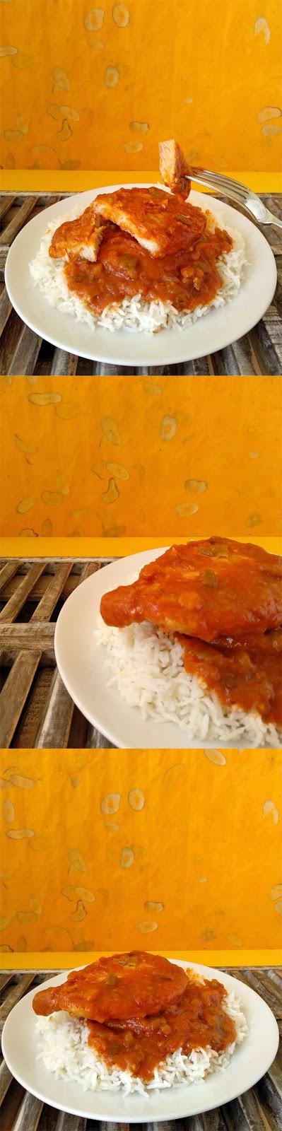 Pork Grillades receta cajun de New Orleans la cocinera novata chuletas de cerdo cocina receta gastronomia norteamericana guiso especias lousiana santa trinidad