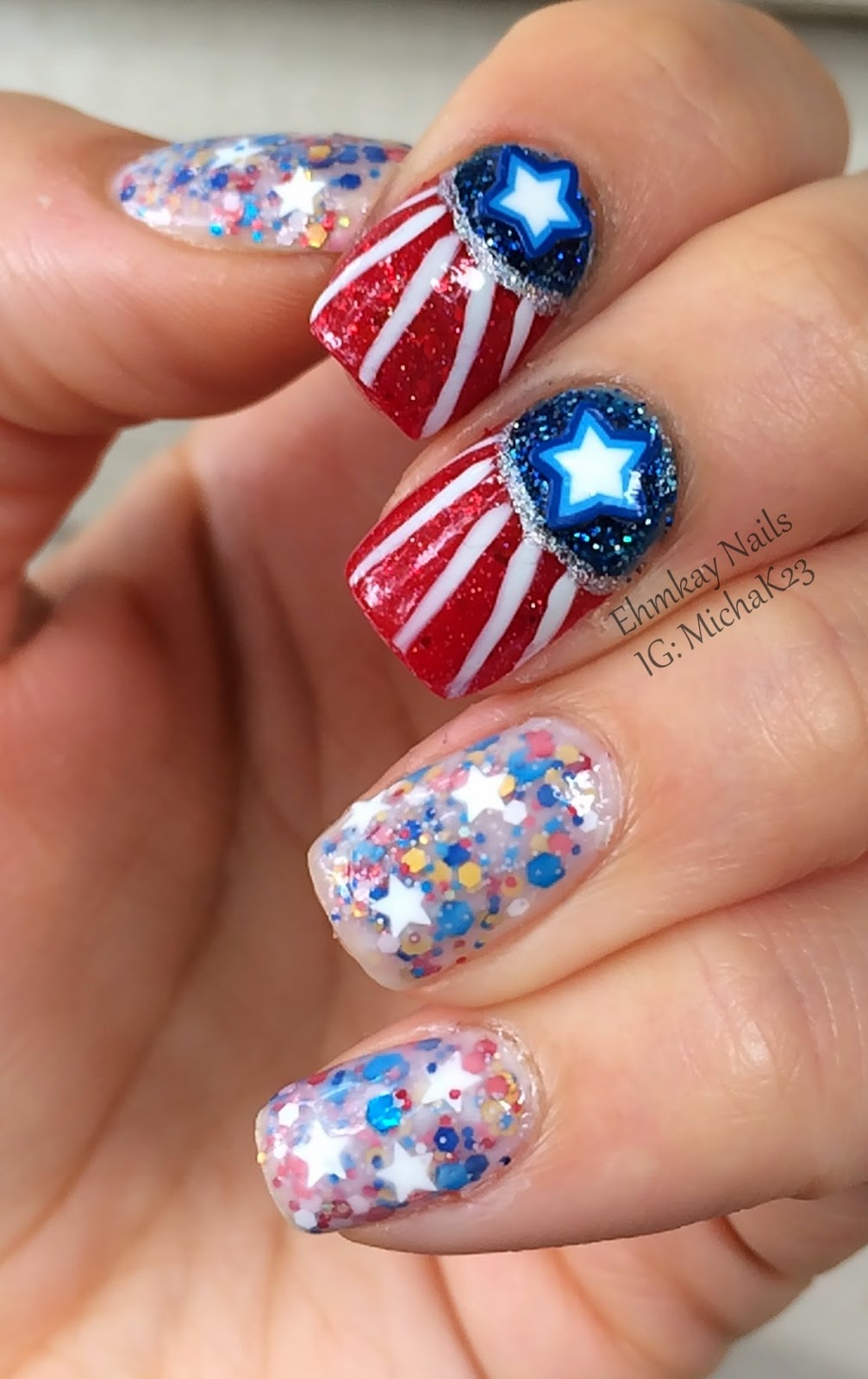 Ehmkay Nails: Fourth Of July Nail Art
