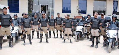 Falcon security personnel
