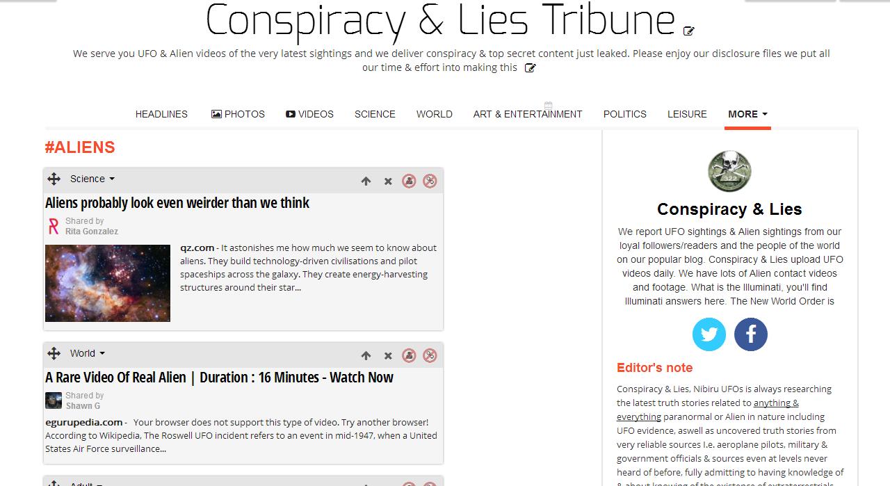 Conspiracy Lie Conspiracy amp Lies Has Just Set Up An Online SnapBshotBofBclBpaper Conspiracy Lies Has Just Set Up Online
