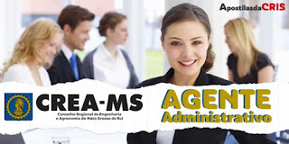 Apostila CREA MS 2017 – Agente Administrativo PDF (download)