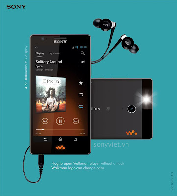 Xperia Walkman Beautiful Concept From An  Designer Vietnam