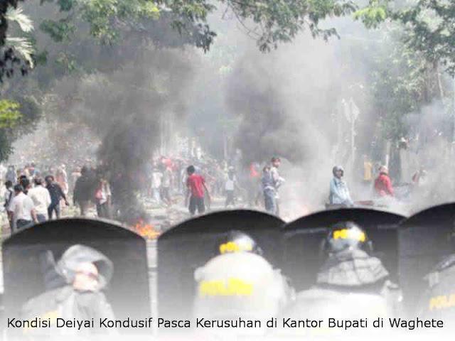Kondisi Deiyai Kondusif Pasca Kerusuhan di Kantor Bupati di Waghete