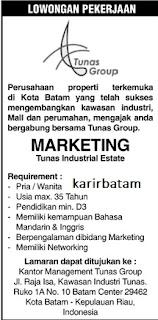 Lowongan Kerja PT. Tunas Group Property