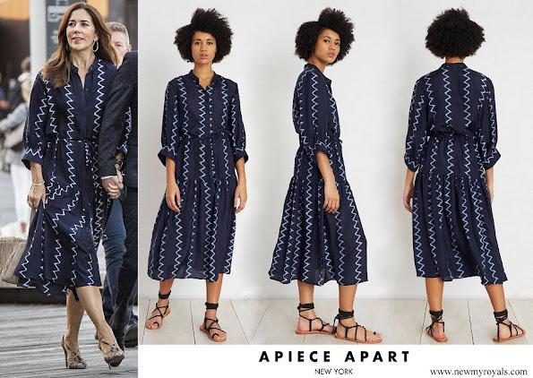 Crown Princess Mary wore Apiece Apart Dunegrass Shirtdress