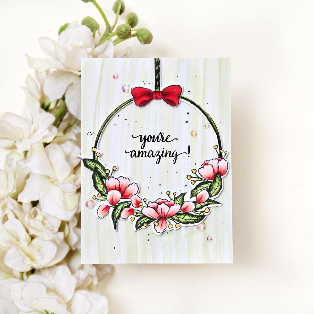 Pinkfresh Studio Hanging Florals Stamp | Erum Tasneem| @pr0digy0
