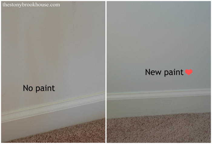 Before and after paint color