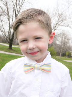 DIY bow tie, easy sewing project, classy Easter clothes, vintage, oxford