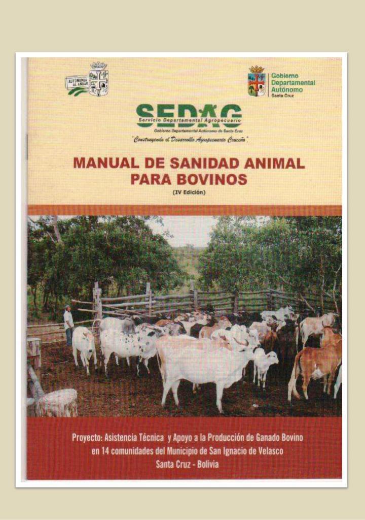 Manual de sanidad animal para bovinos, IV Edición