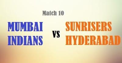 MI vs SRH Match 10 IPL 2017: Match Preview