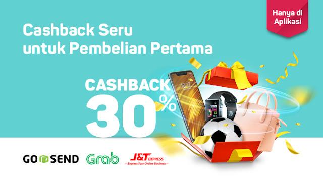 Bukalapak - Voucher Cashback s.d 30% Pembelian Pertama Via Aplikasi