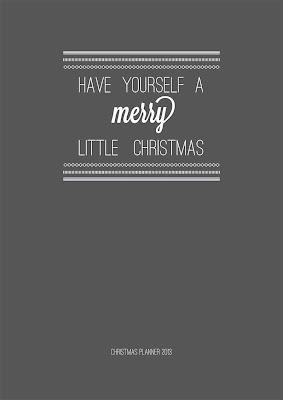 2013 Charcoal Christmas Planner