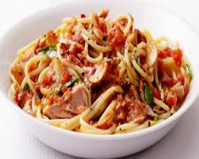 Foto Resep Spagheti Tuna Sambal Dabu Dabu Sederhana Asli Enak