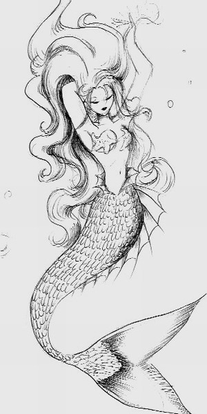 Deniz Kızı Karakalem çizimleri Karakalem çizimleri Karakalem