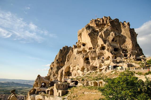 Castelo de Uçhisar na Capadócia na Turquia
