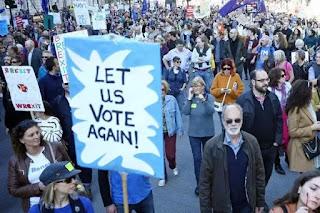 Turun Jalan, Warga Inggris Tuntut Referendum Brexit Kedua