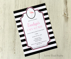 FlamingoBaby Shower Invitation