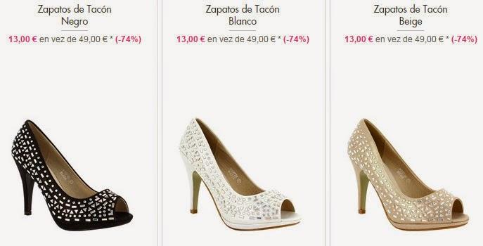 Zapatos de tacón por 14 euros