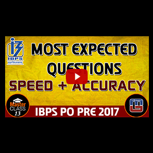 Master Class | Most Expected Questions | Reasoning | Class 13 | IBPS PO 2017