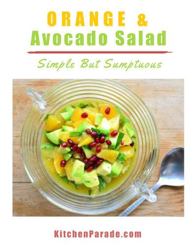 Orange & Avocado Salad, another healthy mid-winter salad ♥ KitchenParade.com.