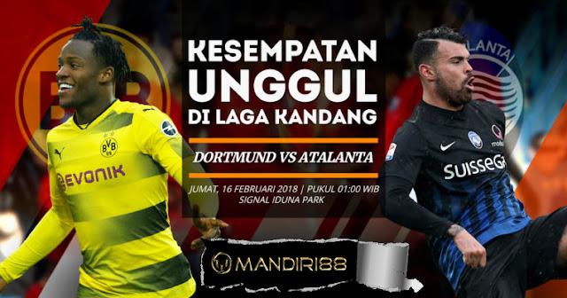 Prediksi Borussia Dortmund Vs Atalanta 16 Febuary 2018
