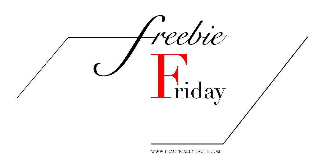 Friday Freebie graphic