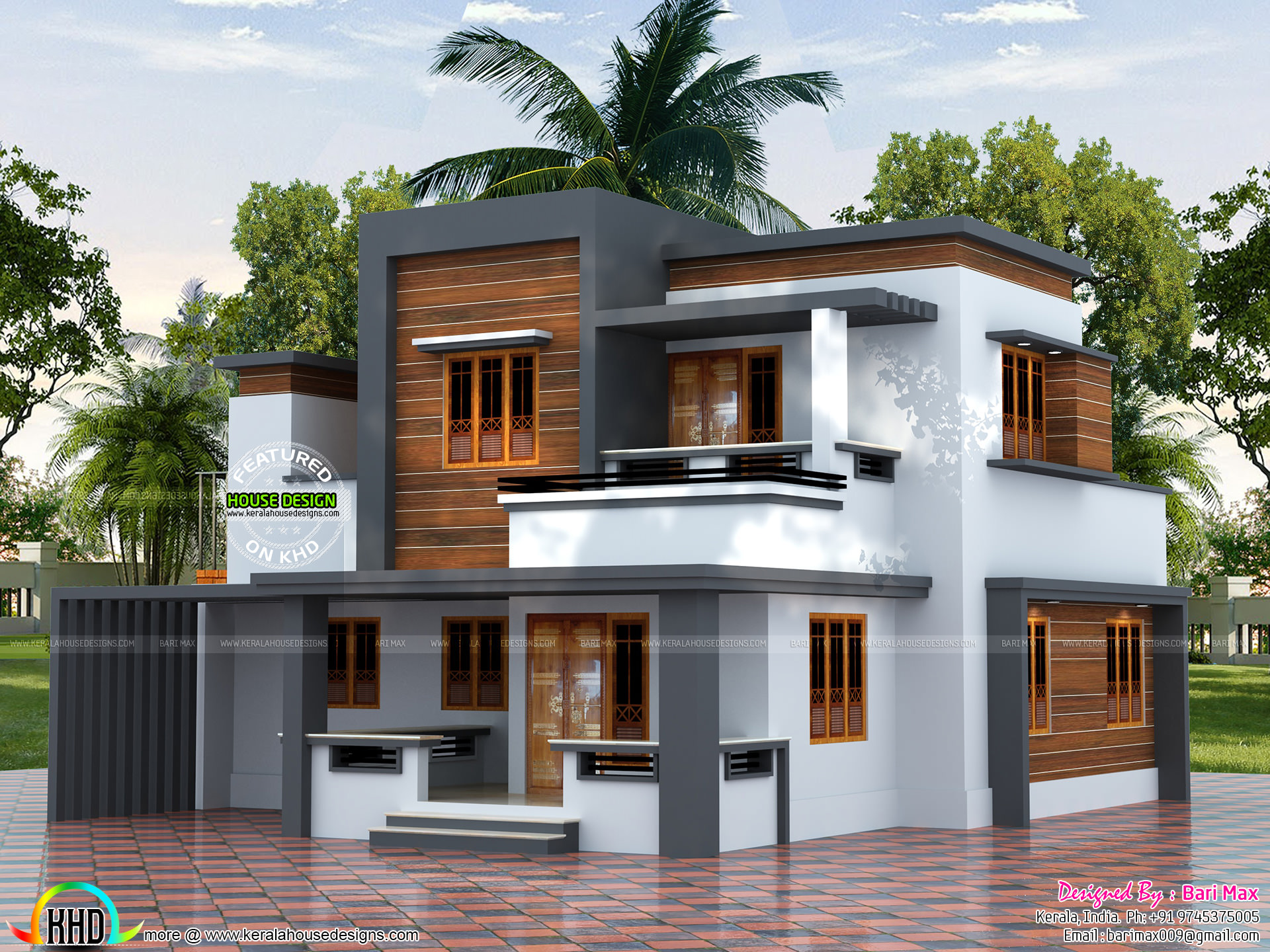 22 5 lakh cost estimated modern house kerala home for Estimated cost building duplex