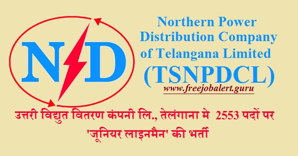 Northern Power Distribution Company of Telangana Ltd., TSNPDCL, Telangana, Bijli Vibhag, Bijli Vibhag Recruitment, 10th, Junior Lineman, 10th, Latest Jobs, Hot Jobs, tsnpdcl logo