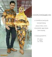 Batik Pasangan SBRG132 Couple Gamis Kebaya Modern mustard