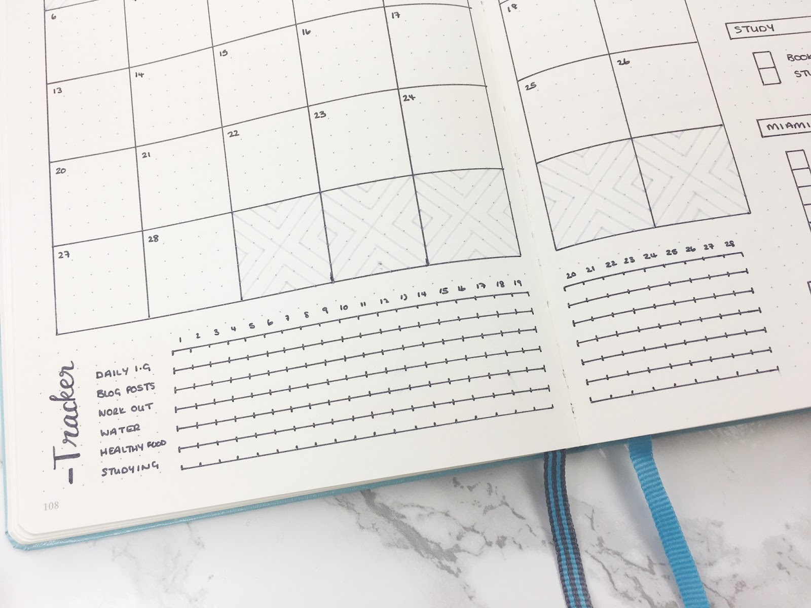 Bullet Journal February Set Up & Template