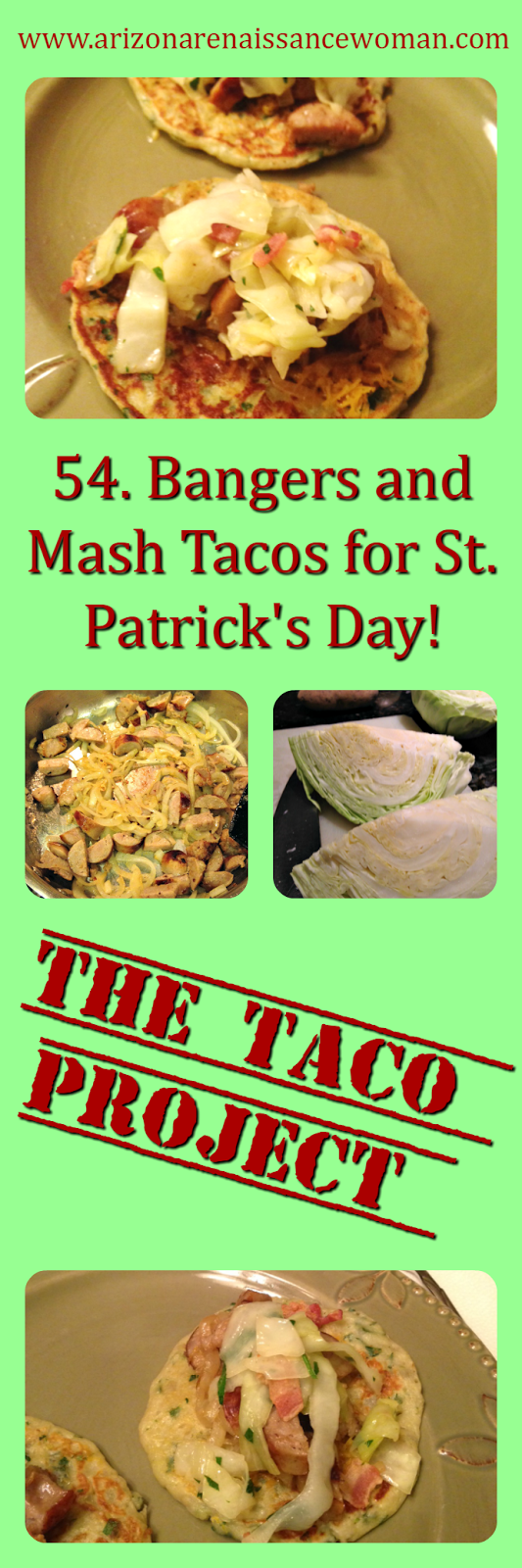 Bangers and Mash Tacos for St. Patrick's Day Collage