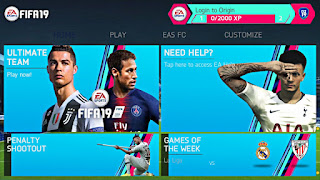 FIFA 19 Mobile Android Offline 1 GB Mod FIFA 14 New Kits,Squad Best Graphics
