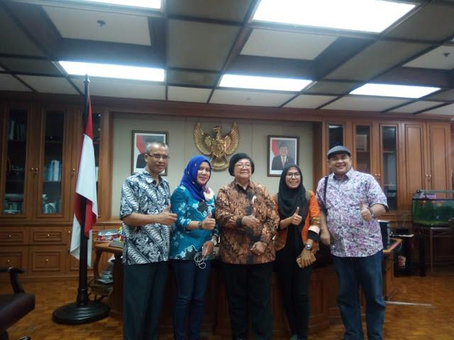 PWI Riau Kunjungi Menteri LHK Dan Kehutanan