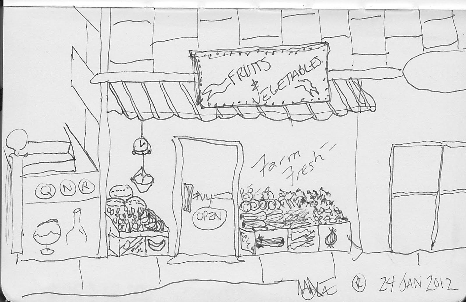 Daily Draw: Vegetable Store