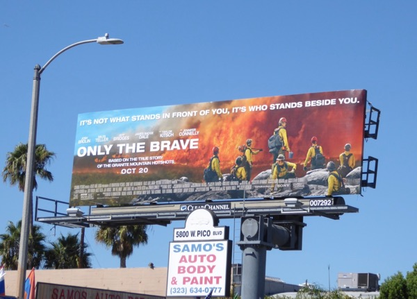 Only The Brave film billboard