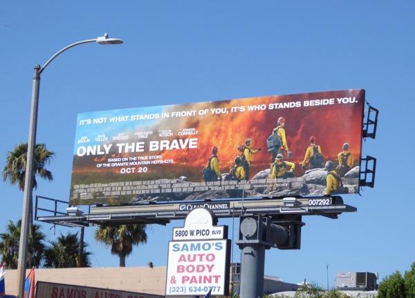 Only The Brave film billboard