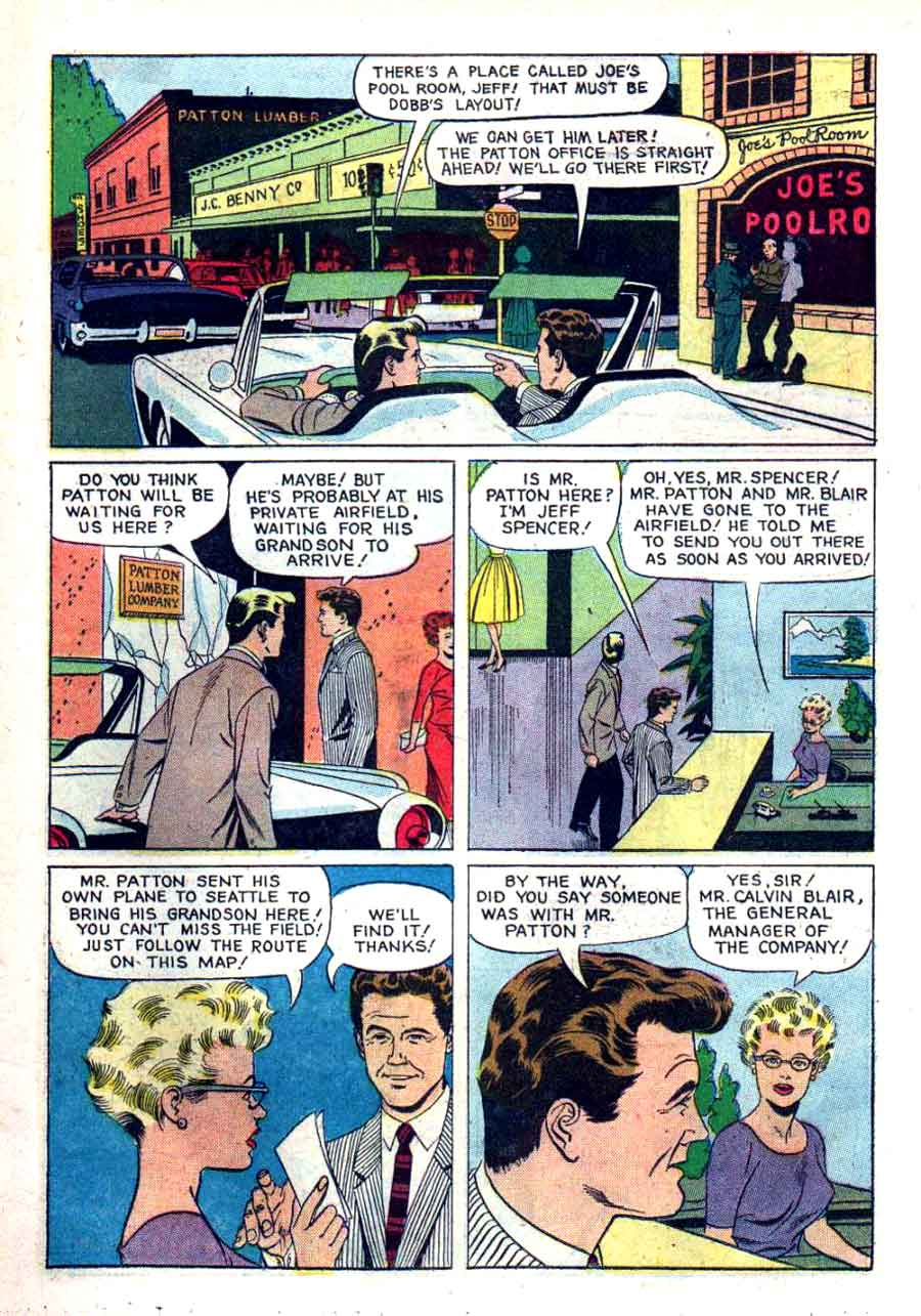 77 Sunset Strip #01-742-209 dell tv 1960s silver age comic book page art by Russ Manning