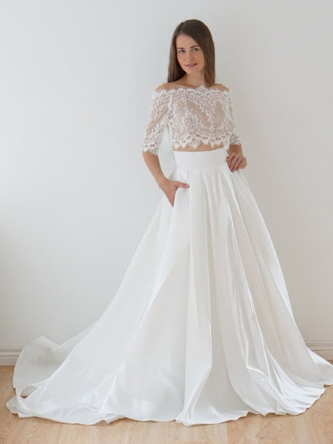 http://uk.millybridal.org/product/two-piece-a-line-off-the-shoulder-lace-taffeta-appliques-lace-court-train-1-2-sleeve-unique-wedding-dresses-ukm00022626-18914.html