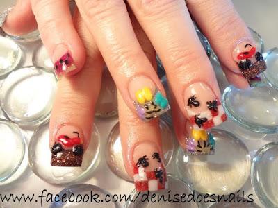 summer picnic nails